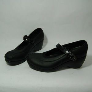 Crocs Black Mary Jane Wedge Heels